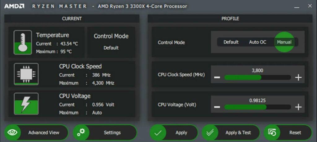 AMD Ryzen Master Utility for AMD CPUs