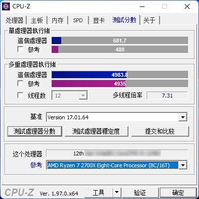 CPU Z i5 12400